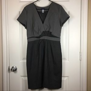 J. Crew gray plaid Super 120s wool career dress 10